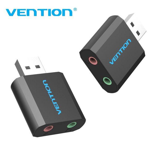 Внешняя звуковая карта USB Vention, 3,5 мм, адаптер для наушников и микрофона