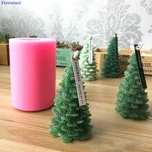 Christmas Tree Candle Silicone Mold Cedar Mold Pine Tree Mold Christmas Candle Mold 3d Silicon Candle Molds Fondant Cake Mold