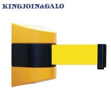 10m Pure gele riem muur bedrag Intrekbare Barrière Tape Veiligheid magazijn workshop kraaide controle