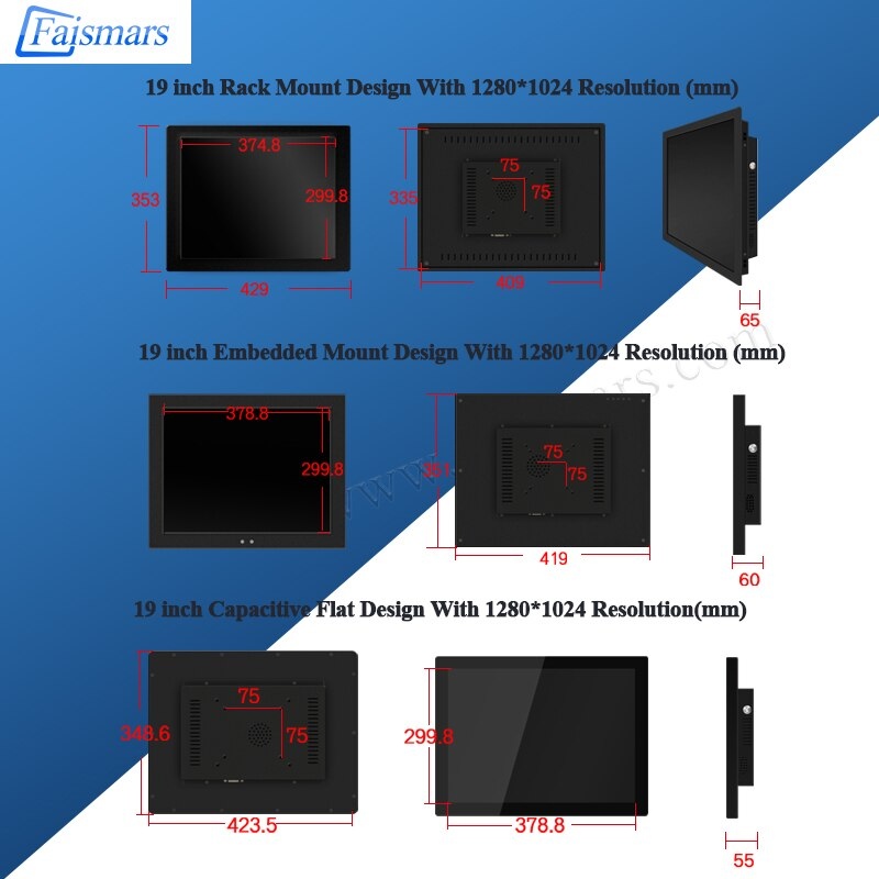 19 Inch Industrial PC All In One Computer With J1900 Resistance Capacitive Touch Screen Wall Mount Kiosk Self-Service Terminal enlarge