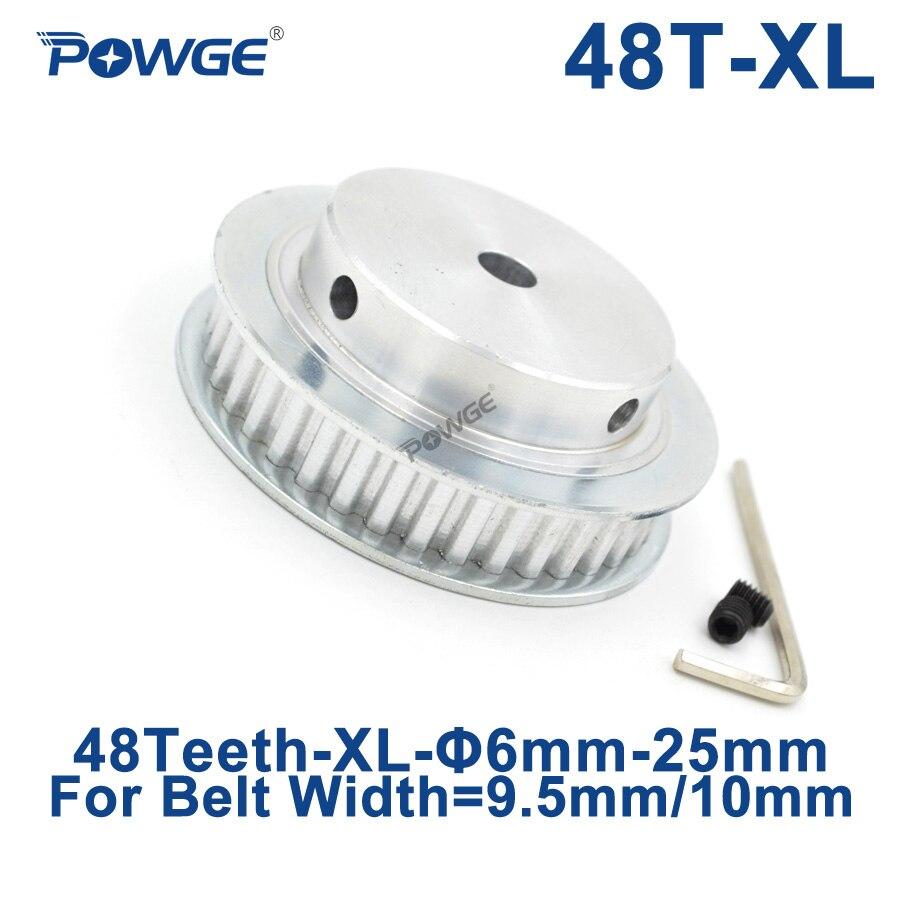 POWGE poulie de synchronisation XL 48 dents   Alésoir 6/8/10/12/14/15/16/18/19/20/25mm pour largeur 10mm XL, courroie synchrone, engrenages de roues 48 dents 48 T