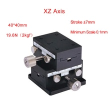 XZ Axis 40*40mm Sliding Stage Displacement Lift Platform Guide Rail 40*40mm PLWFEV40