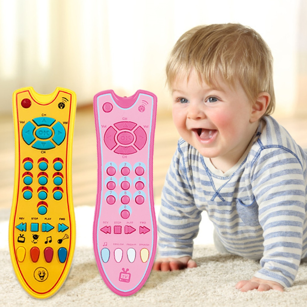 Детские игрушки, яркие музыкальные Ранние развивающие игрушки с дистанционным управлением