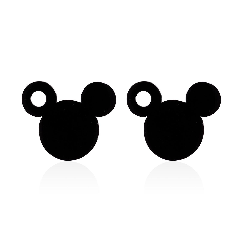 Disney Mickey mouse brinco lady boneca acessórios jóias pingente Minnie Camisola do sexo feminino presente