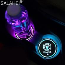 7 цветных интеллектуальных автомобильных светодиодных подставок для воды Changan Eado XT CS35 CS75 CS85 CS95 Dsvin V7, автомобильные аксессуары для интерьера
