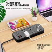 Сетевой фильтр с 5 розетками переменного тока и QC 3,0, 3 USB-порта