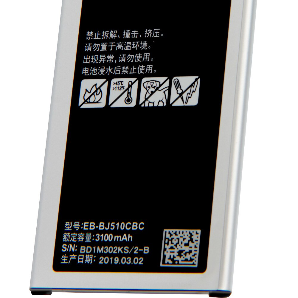 Original Replacement Phone Battery EB-BJ510CBC For Samsung GALAXY 2016 Version J510 j5109 j5108 J5 EB-BJ510CBE Battery 3100mAh enlarge