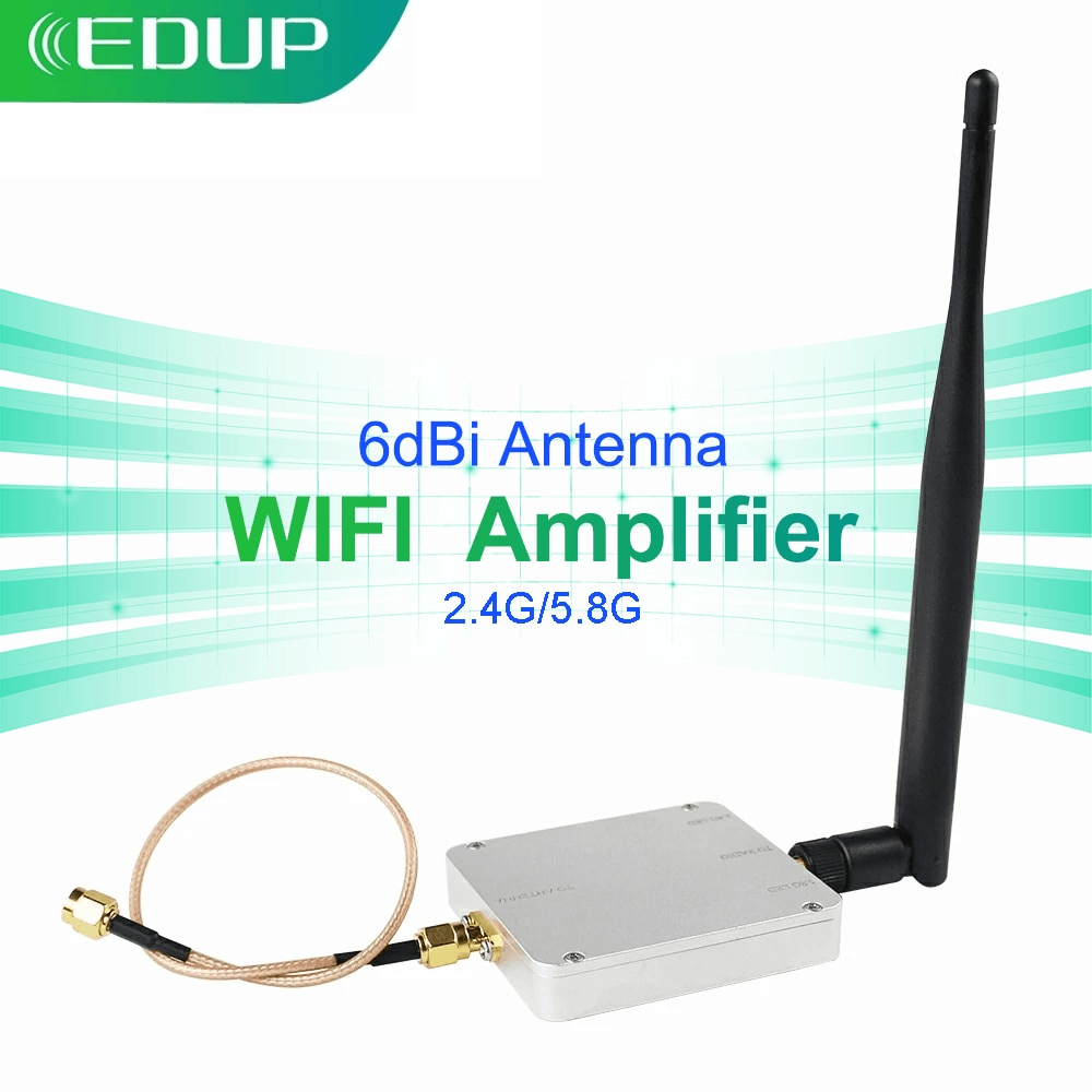 EDUP WiFi Amplifier Dual Band 2.4G&5.8G 4000mW 6dBi WiFi Booster Long Range Wilress Signal Wifi signal booster For House Office