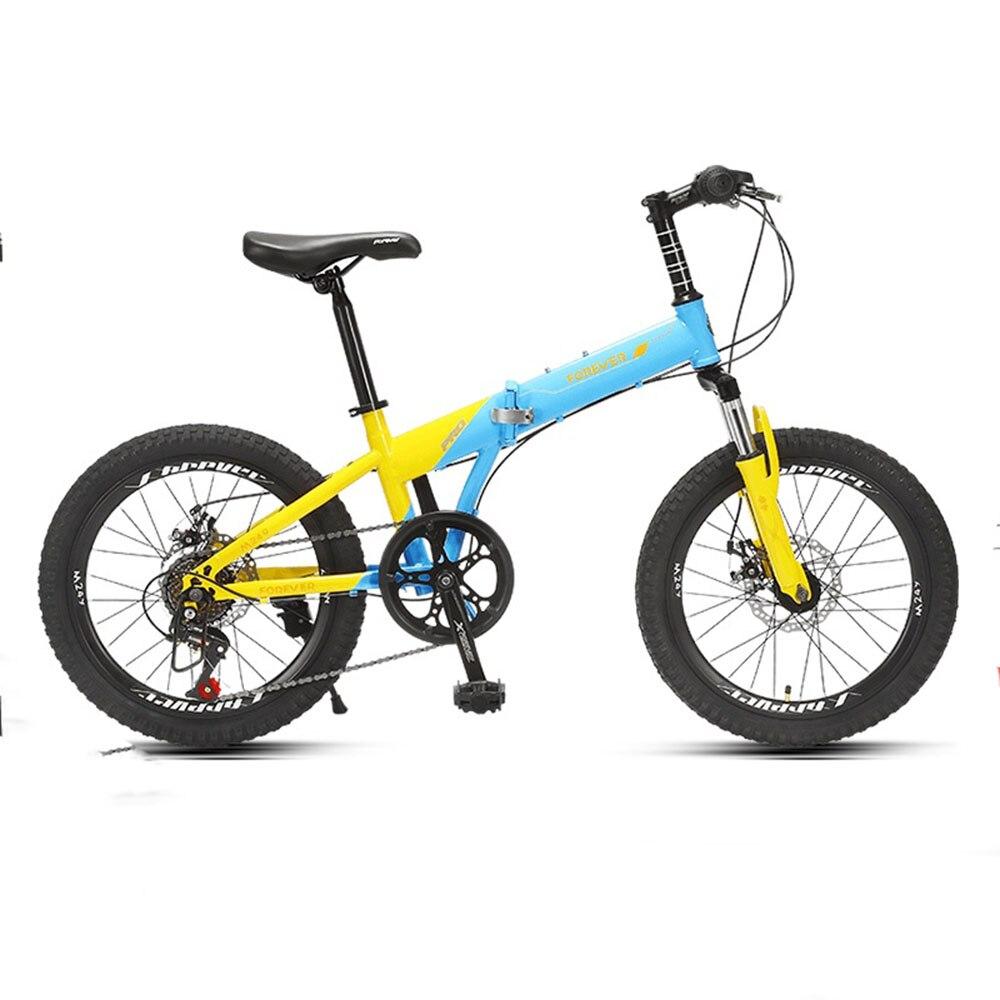 Foldablemountain bicicleta das crianças de velocidade variável leve para estudantes e adolescentes