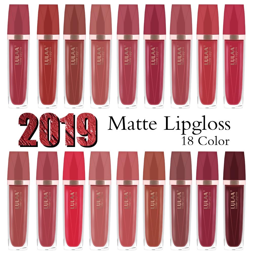 LULAA-brillo de labios brillante, terciopelo duradero, hidratante, mate, líquido lápiz de labios tinte, resistente al agua, transparente, brillo de labios, maquillaje TSLM1