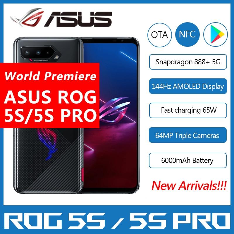 "Asus ROG Phone 5S/5S Pro 5G Gaming Phone 6.78"" 144Hz Display Snapdragon 888 Plus 6000mAh Fast Charging 65W ROG 5S Smartphone"