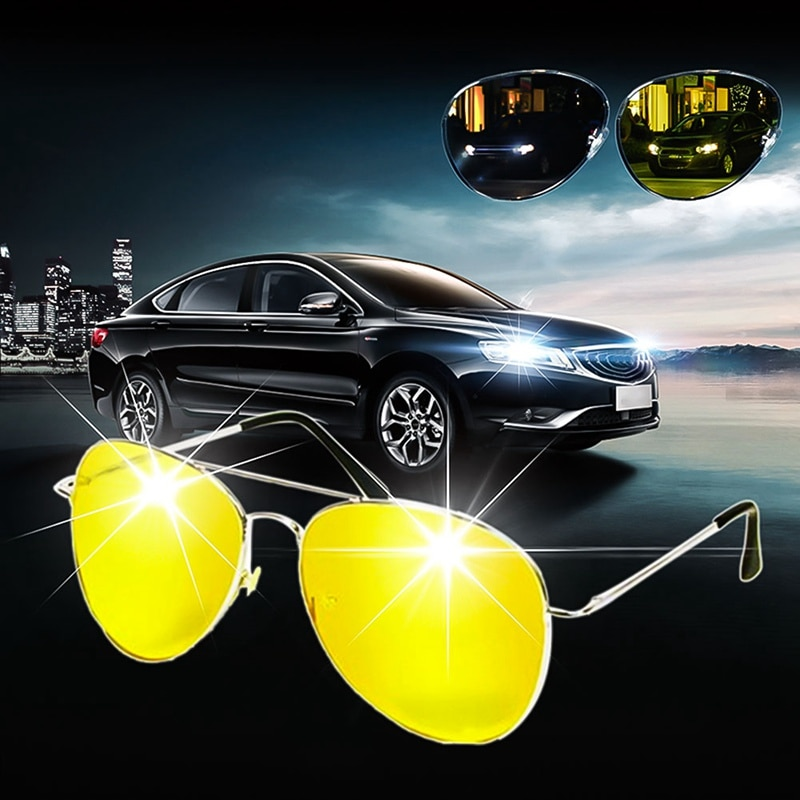Car Auto Driver Night Vision Anti Glare Polarizer Goggles Dustproof Sunglasses Driving Sun Glasses E