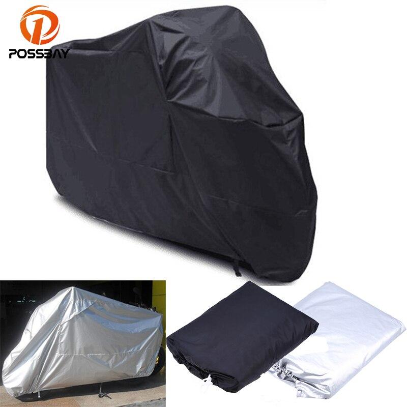 POSSBAY, cubierta Universal para motocicleta M/L/XL/XXL/XXXL, cubierta impermeable protectora UV para exteriores, cubiertas a prueba de polvo y lluvia para Motor, cubierta para bicicleta