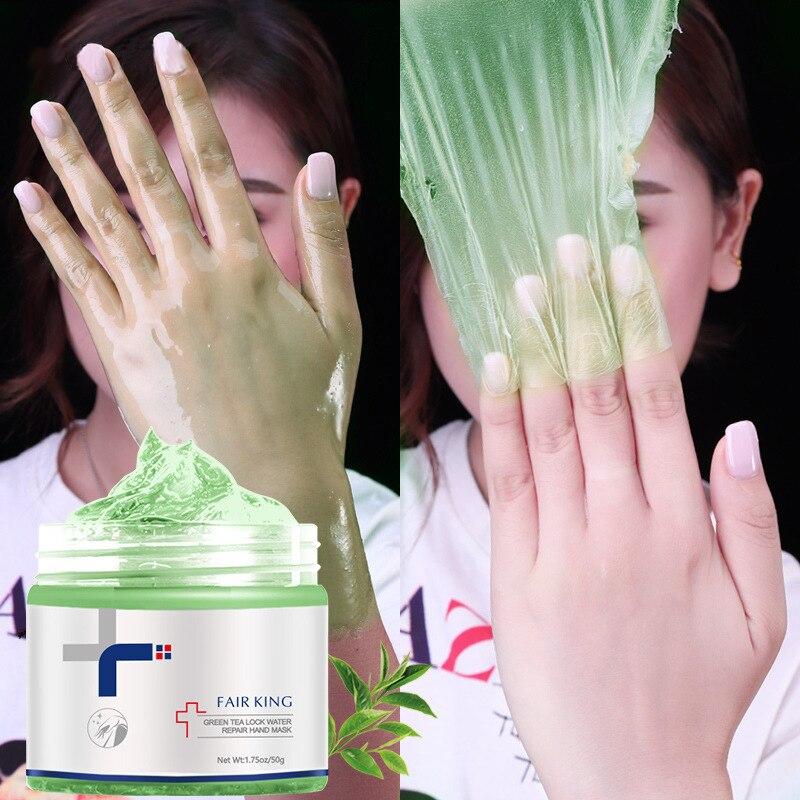 50g Green Tea Hand Mask Moisturizing Repairing Whitening Peel Off Hand Mask Anti-aging Exfoliating H