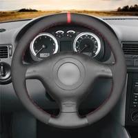 diy anti slip wear resistant steering wheel cover for volkswagen golf 4 passat variant polo car interior decoration