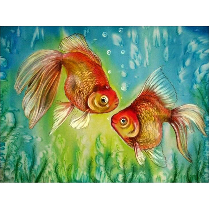 5d elmas boyama goldfish çapraz dikiş tam kare elmas mozaik hayvan taklidi el sanatları nakış ev dekorasyon