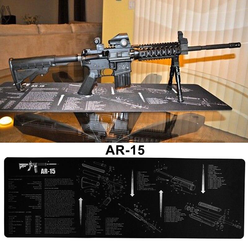 Ak15 arma limpeza bancada tapete de borracha à prova dnon água antiderrapante com instruções tapete de bancada armurista 37-0071