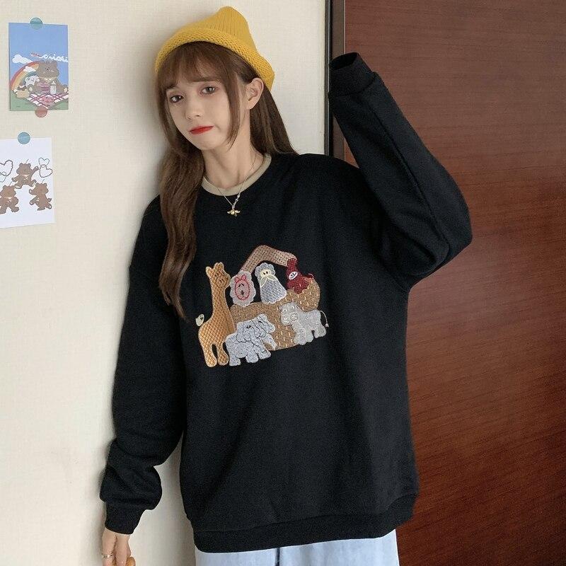 Japanese Girlish Fake Two Pieces Best-Selling Sweatshirt Women's Loose Korean Fashionable Ins Idle S