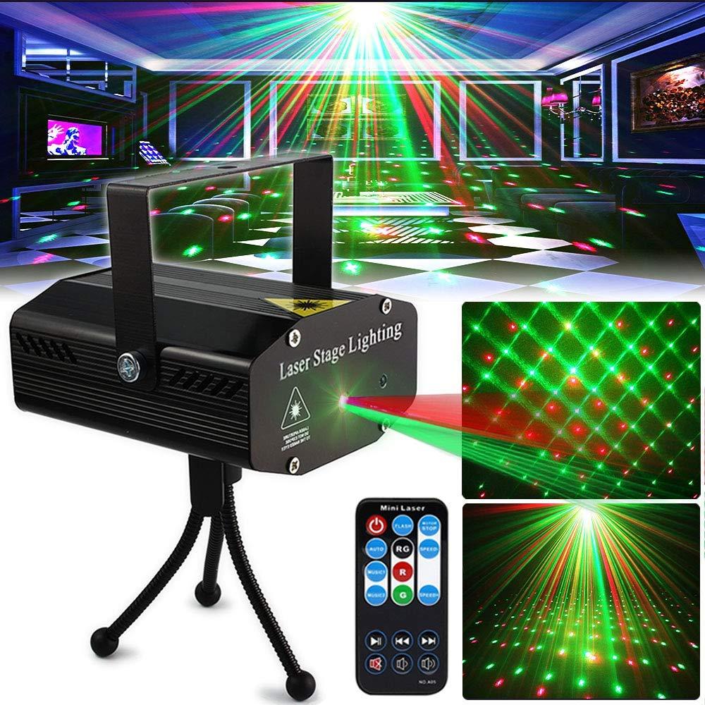Рождественский лазерный проектор для дискотеки, клубный светильник для дискотеки, сценисветильник свет, зеленый, красный, с голосовым упра...