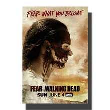 Affiche de film vidéo M805 fear the walk dead   En soie, 12x18 14x21 24x32, impression toile dimages murales, décoration personnalisée 24x36 pouces
