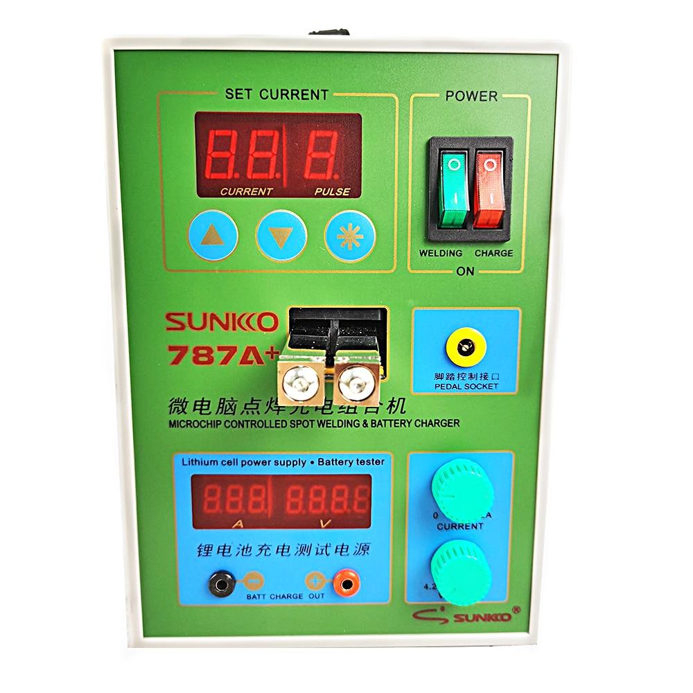 LED نبض بطارية بقعة لحام SUNKKO 787A + ماكينة لحام نقطي MCU آلة لحام 18650 بطارية ليثيوم اختبار والشحن