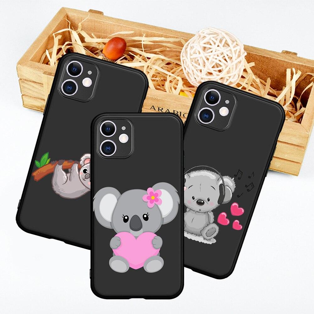 Novo animal engraçado o koala austrália dos desenhos animados para o iphone 12 pro max 5 6s 7 8 se 2020 plus x xs xr 11 pro max caso de telefone capa