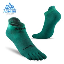 AONIJIE E4110 One Pair Lightweight Low Cut Athletic Toe Socks Quarter Socks For Five Toed Barefoot R