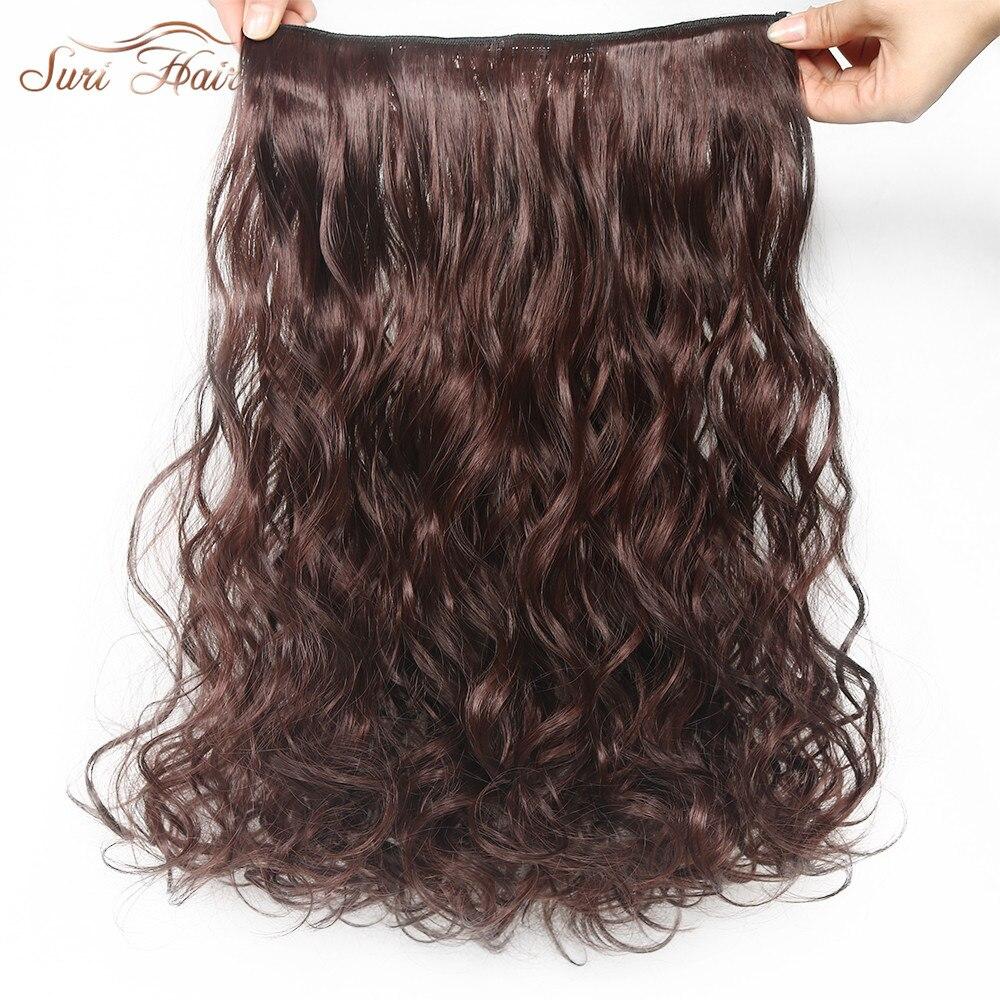 Suri cabelo 24 polegadas 5 grampos em extensões de cabelo bouncy encaracolado real natural sintético 15 cores avaiable hairpieces 10 polegadas de largura