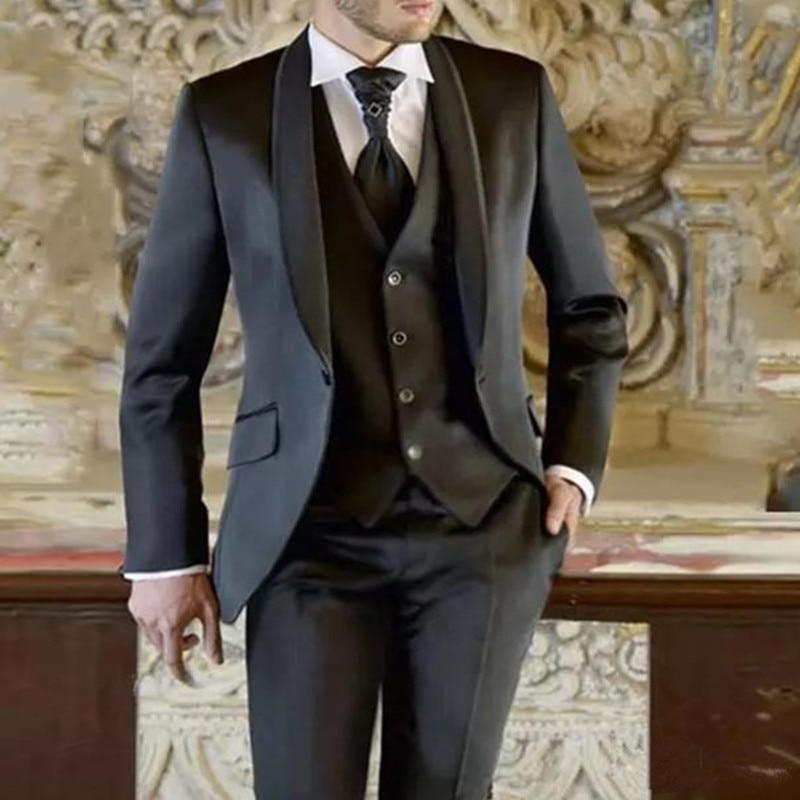 بدل رجالي لحفلات الزفاف وحفلات الراقصة والبتلات وصدرية العريس وحفلات الزفاف/الحفلات الراقصة/العشاء أفضل رجل السترة (سترة + بنطلون + سترة)
