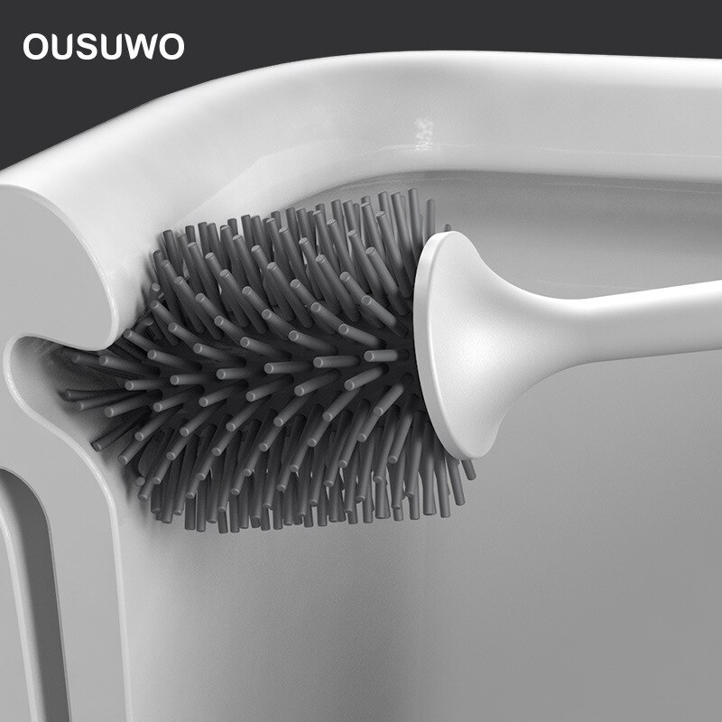 Bathroom Toilet Brush Rubber Head Holder Cleaning Brush For Toilet Wall Hanging Household Floor Cleaning Bathroom Accessories недорого
