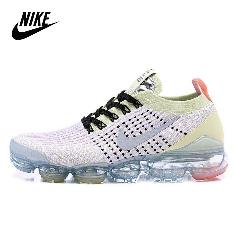 Nike Air VaporMax 3,0 Original cojín atmosférico zapatos para correr mujeres tamaño 36-39 blanco amarillo AJ6900-103