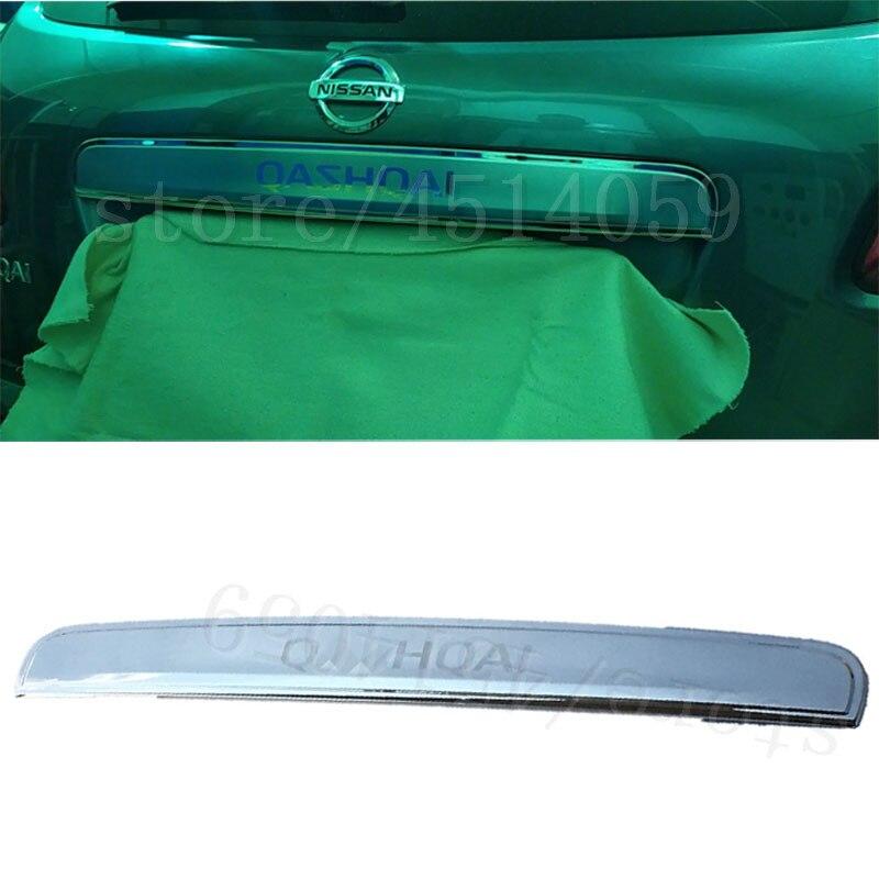 Para NISSAN QASHQAI j10 de alta calidad de acero inoxidable puerta trasera arranque manija de agarre de la puerta trasera cubierta de ajuste 2008-2013 accesorios de coche