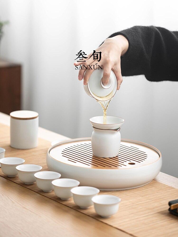 طقم شاي صيني متنقل ، زينة احتفالية ، للبالغين ، حفل سفر ، Zestaw Do Herbaty ، BD50TS