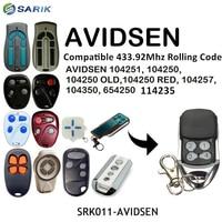 AVIDSEN 104250 דלת מוסך שלט רחוק רולינג קוד AVIDSEN 100400 דלת מוסך פותחן קוד קבוע 433.92mhz מוסך הפקודה