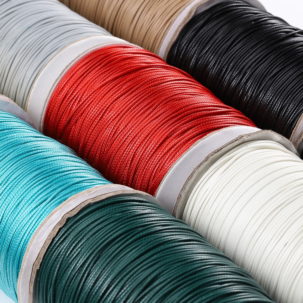 10 gold round coated cakeboard 12 ct 10Meters 1.0 1.5 2.0mm Round Wax Thread Polyester Leather Cord Rope Coated Strings for Braided Bracelets Jewelry Making DIY
