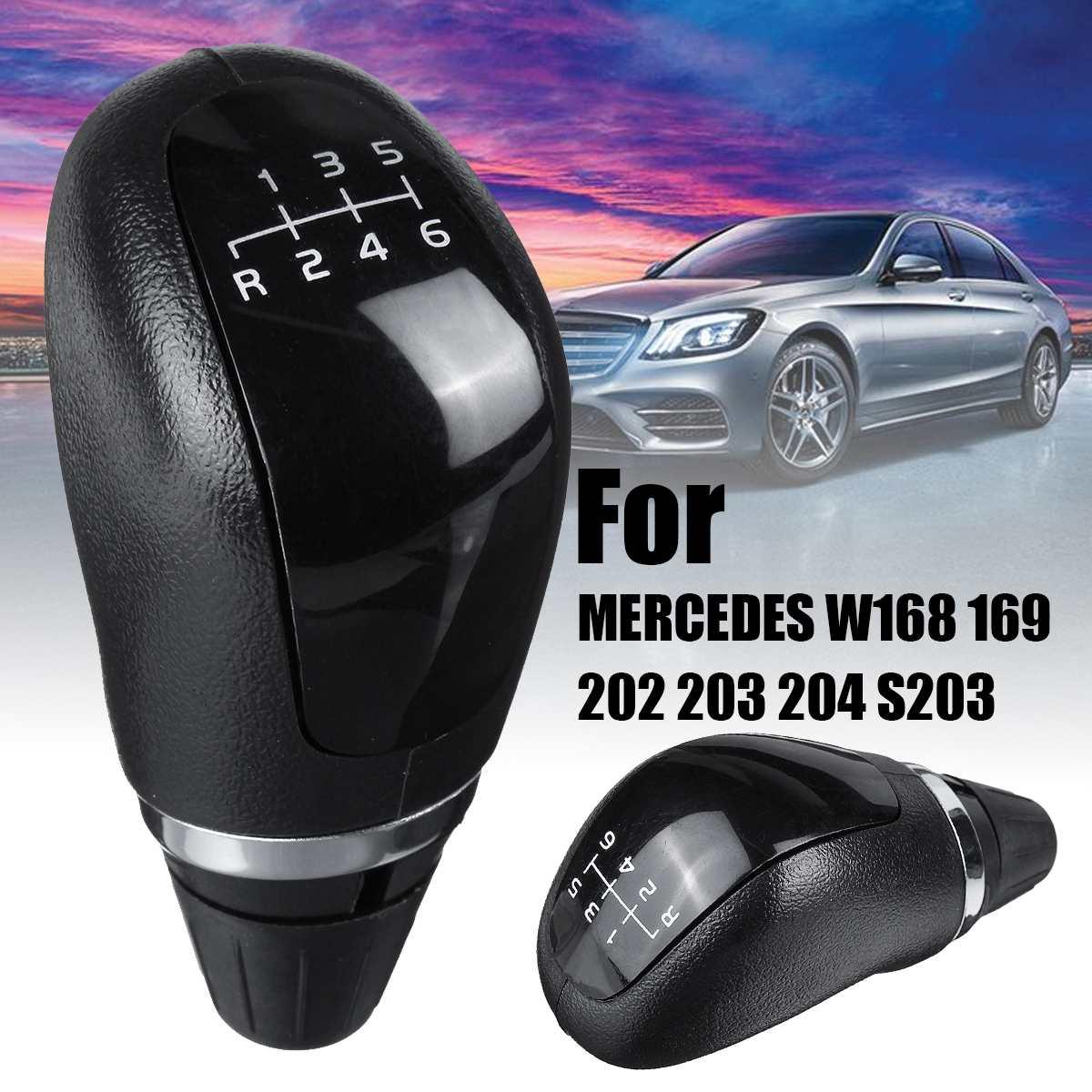 NEUE 1PCS 6 Geschwindigkeit Auto Shift Schaltknauf Manuelle 6-speed Schaltknauf Für MERCEDES W168 169 202 203 204 S203