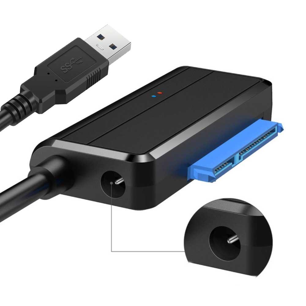 Convertidor de disco duro USB 3,0 a SATA SSD UASP de alta velocidad Cable adaptador de unidad fácil de Cable para Cable adaptador