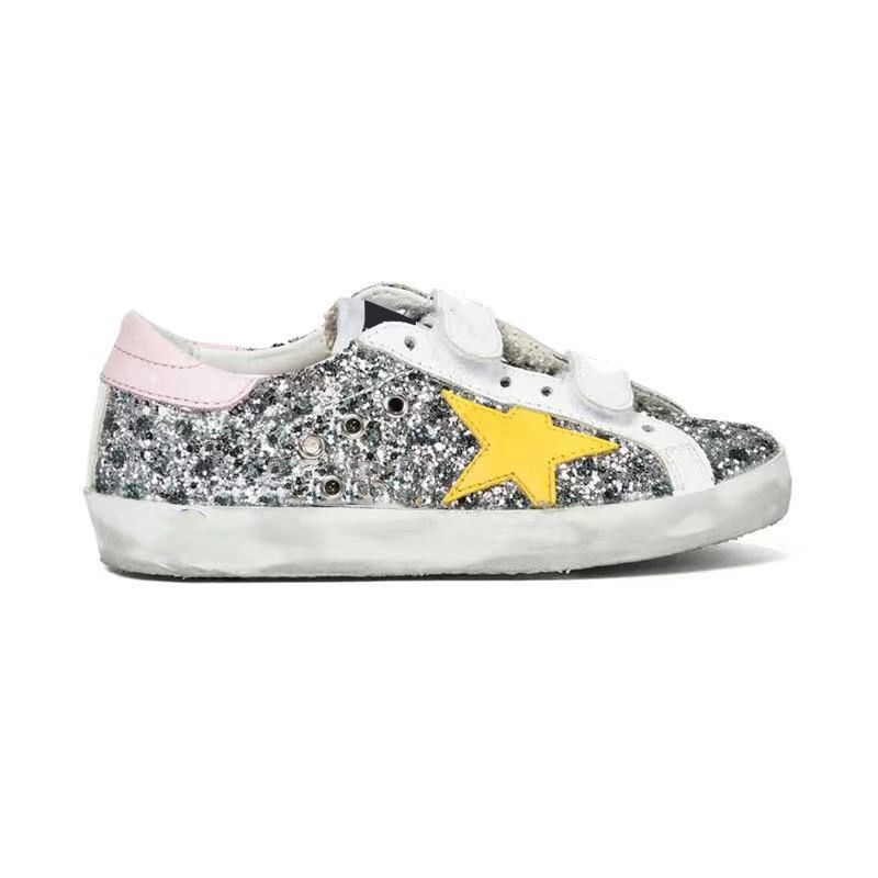 2021 Autumn/winter New Product Parent-child Casual Shoes Retro Old Sequin Fashion Non-slip Children's Shoes QZ142 enlarge