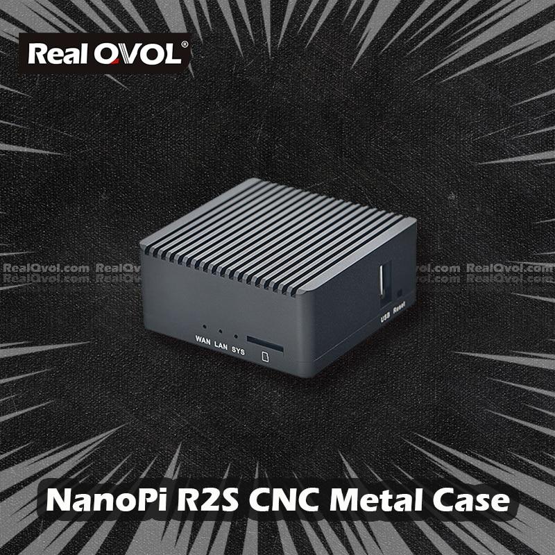 Realqvol Friendlyelec Nanopi R2S Cnc Metal Case Beschermende Shell Accessoires Aluminium Case