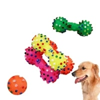 small spines dumbbell pet toys dog toys sounding ball vinyl bite resistant bone type toys molar teeth