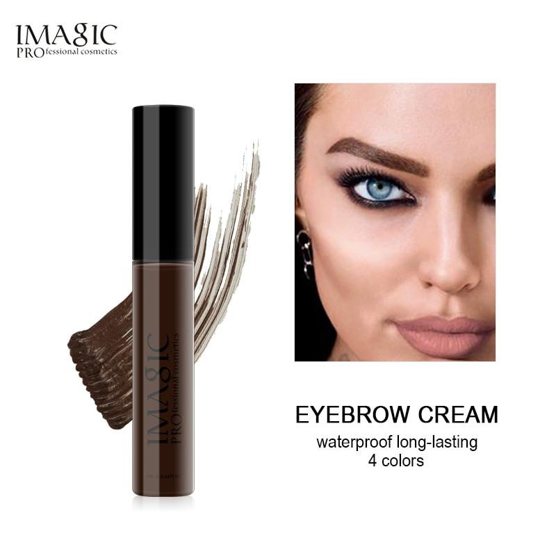 Imagic profissional sobrancelha rímel creme maquiagem longa duração à prova ddye água de tintura sobrancelha gel enhancer 4 cores