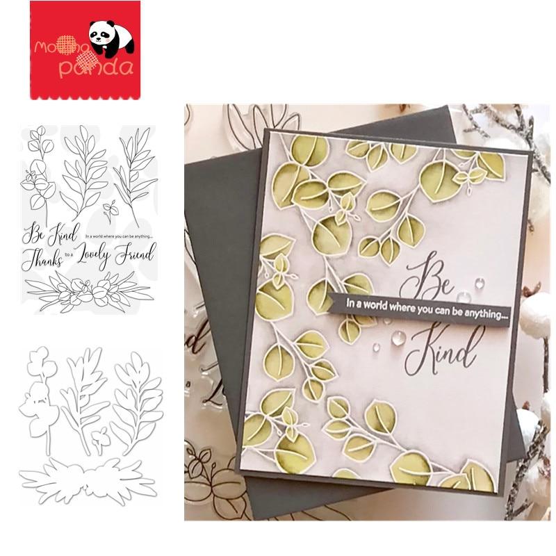 BE KIND FLOWER  Metal Cutting Dies and Stamps Craft Dies Scrapbooking Card Making Album Embossing Stencil Die Cut Decoration