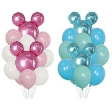 1 ensemble de ballons Mickey Minnie Mouse   Ballon en Latex, pour décoration de réception-cadeau pour bébé fête danniversaire, ballon à feuille pour enfants, jouet ballons à Air