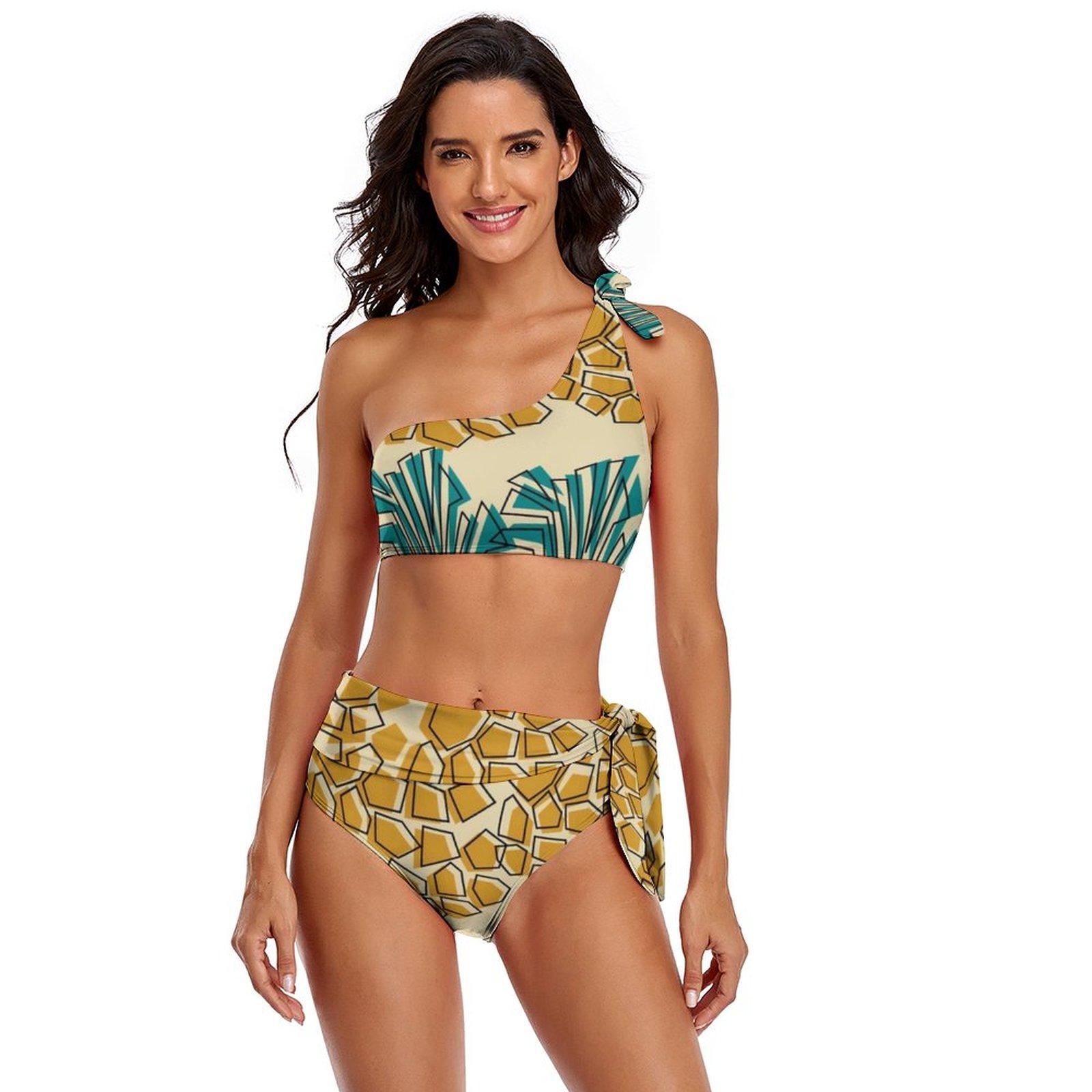 الأناناس بيكيني ملابس السباحة التعادل الجانب بيع Kawaii ملابس اللياقة البدنية قطعتين ل كبير الثدي ثوب السباحة