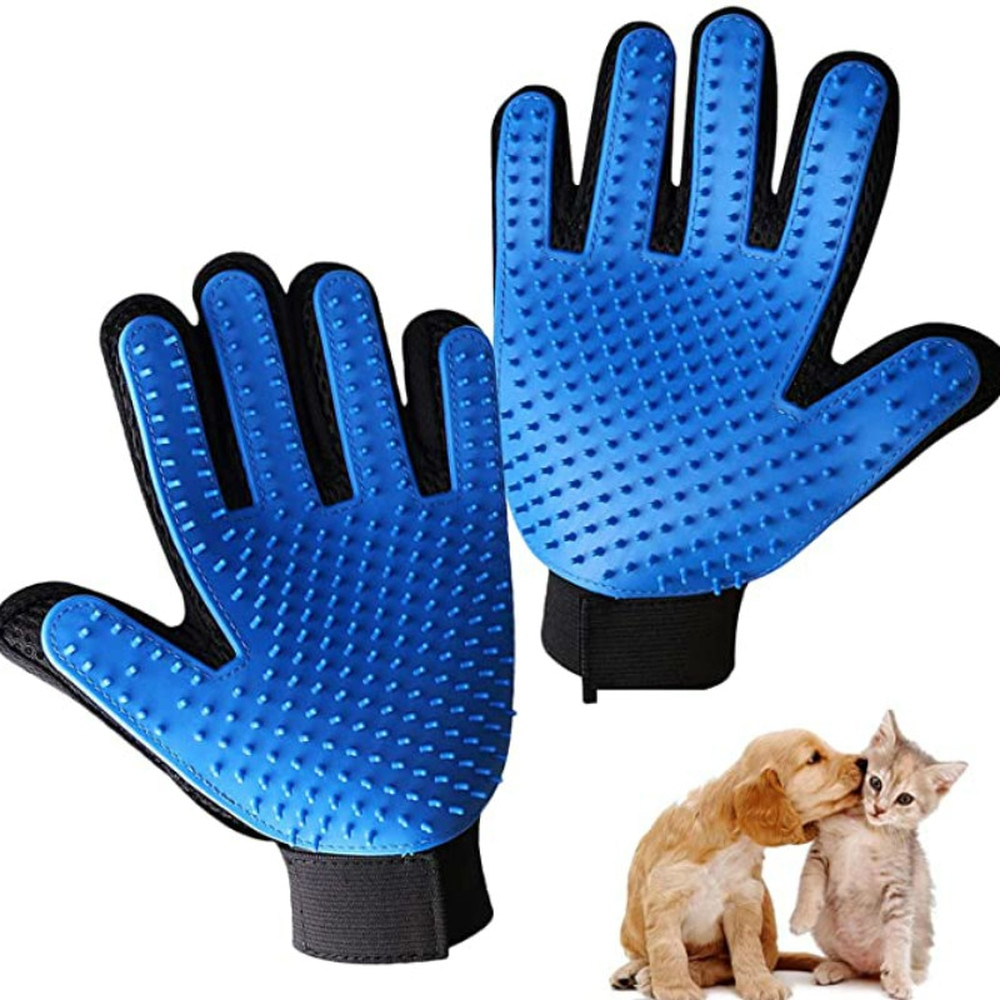 pet care grooming glove for cats hair removal mitts deshedding brush comb for animal dog horse massage glove combs pet supplies 2021 Cat Grooming Glove for Cats Wool Glove Pet Hair Deshedding Brush Comb Glove for Pet Dog Cleaning Massage Glove for Animal