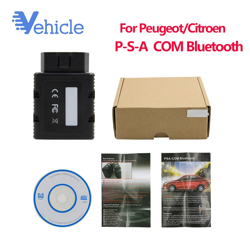 PSACOM repuesto de Lexia-3 PP2000 bluetooth BT para PSA-COM PSA programa de diagnóstico COM para vehículos Peugeot/Citroen