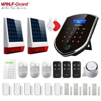Wolf-Guard 3G Wifi sans fil alarme de securite a domicile systeme antivol Kit de bricolage APP controle detecteur de mouvement porte fenetre capteur sirene