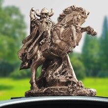 Estatua de armadura de Sparta Warrior de Europa de la guerra escultura de arte vikingo de Dios de la Guerra Creativa de la exhibición Interior del coche decoración R4012