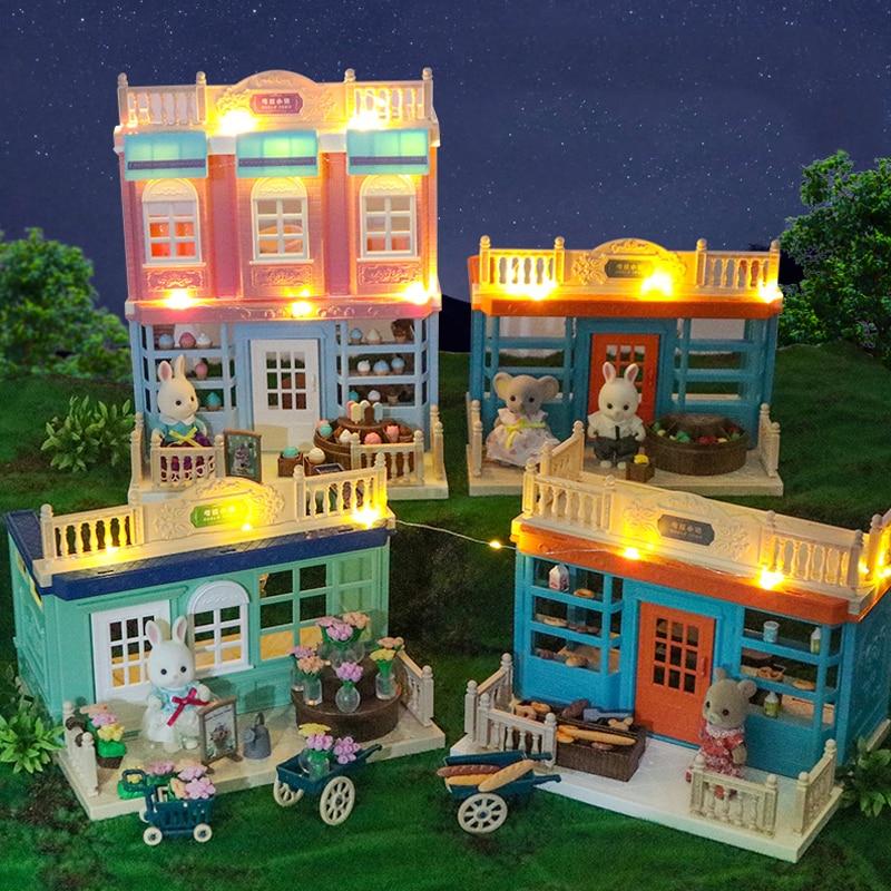 Sweety Zoey Koala Кукольный дом 1/12 имитация двухэтажная вилла ванная комната и кухня мебель аксессуары для девушек Подарок