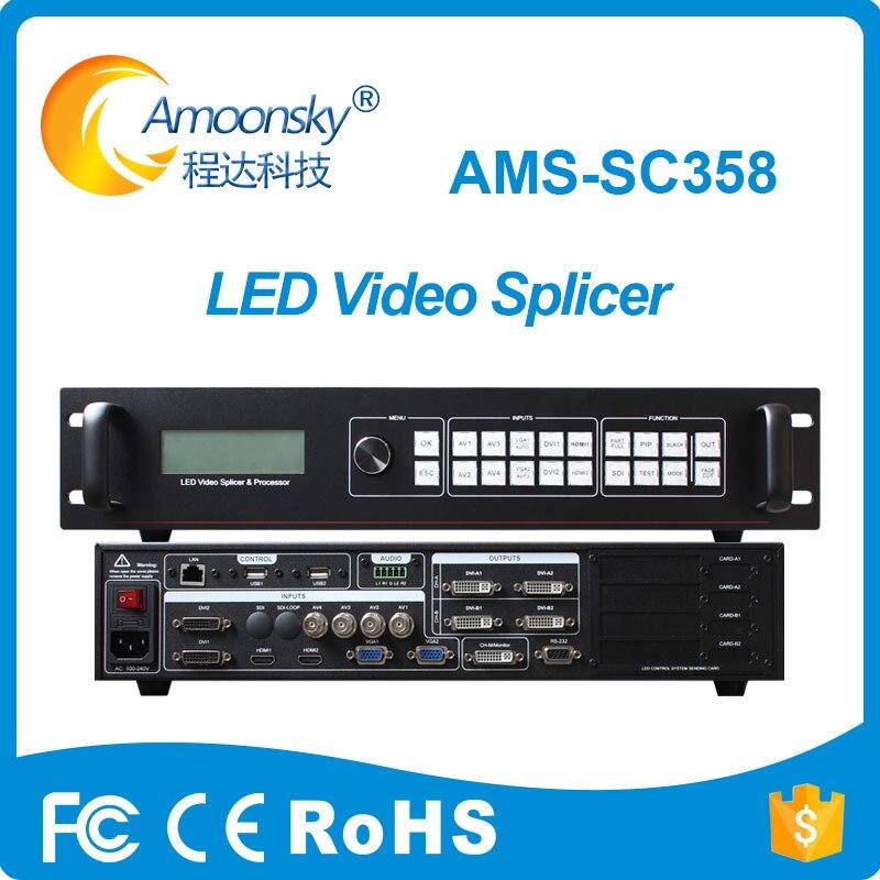 Procesador de imagen de empalme de vídeo led sc358 ampliar SDI como escuchar el empalme led vp9000 para pantalla led transparente al aire libre